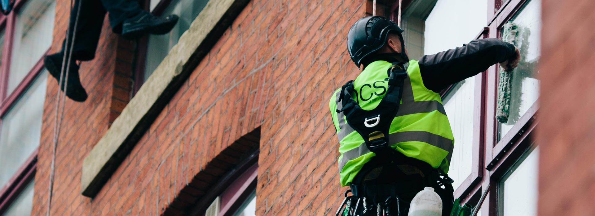 Abseiling & Rope Access Window Cleaning Services in Manchester and the North West - HCS Cleaning Services