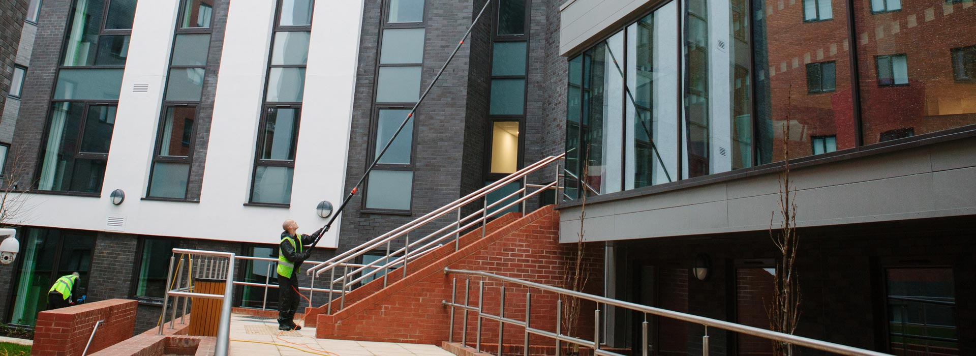 Ladderless Reach & Wash Window Cleaning Services in Manchester and the North West - HCS Cleaning Services
