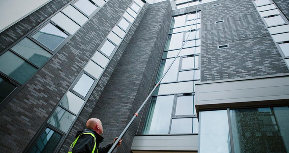 Ladderless Reach & Wash Window Cleaning in Manchester and the Northwest - HCS Cleaning Services