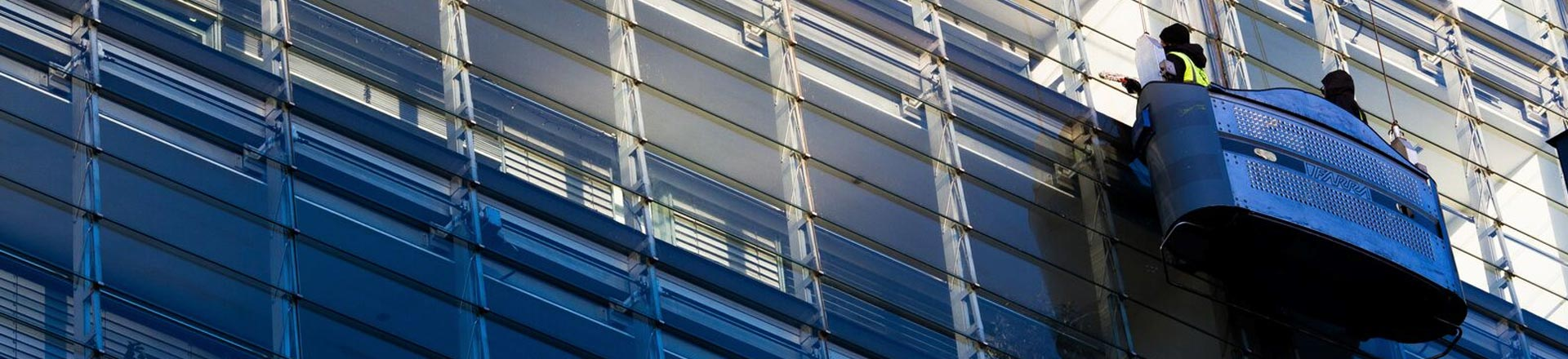 High Rise Cradle Window Cleaning in Manchester and the North West - HCS Cleaning Services