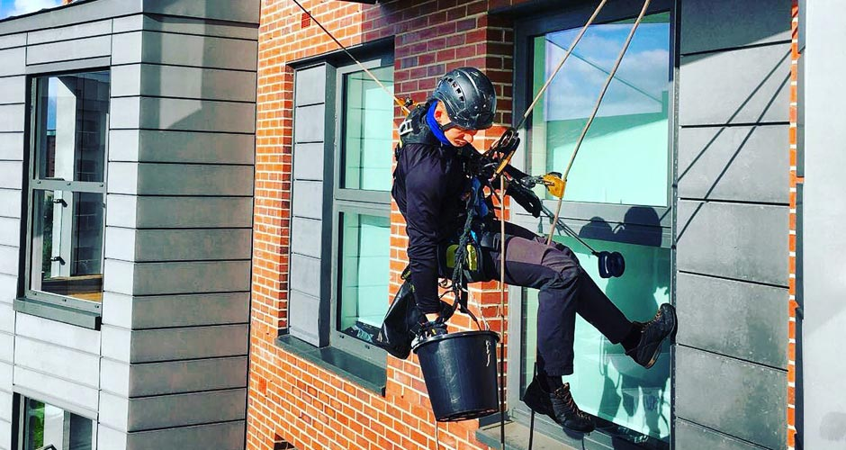 Abseiling/Rope Access Window Cleaning in Sheffield - HCS Cleaning Services