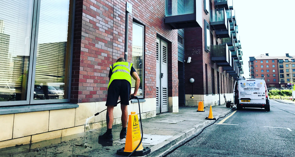 Pressure Washing in Manchester and the North West - HCS Cleaning Services
