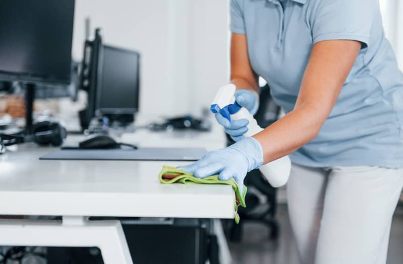 Communal Area Cleaning in Offices by HCS